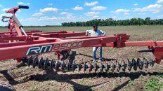 La firma santafesina de implementos agrícolas Giorgi, mostró los resultados de sus rastras agroecológicas.