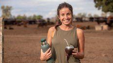 Inés Amuchástegui es ingeniera agrónoma y trabaja en su cabaña de Angus en Alta Gracia.