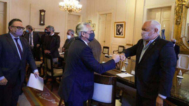 Diálogo. El presidente se reunió en Casa Rosada con referentes del agro y la agroindustria.