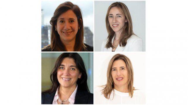 Cecilia Giordano, Paula Altavilla, Silvia Taurozzi y Lorena Basso.