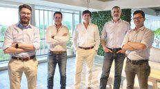 Rodrigo Vázquez, Sebastián Miret, Gabriel Sánchez Catena y Nicolás Mayer Wolf, fundadores de Agree.